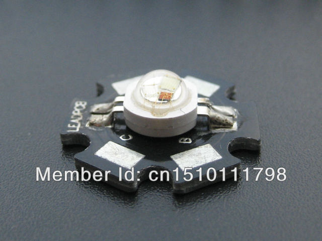 Free shipping 100% guaranteed superior quality 6 pins 3watt rgb led from shenzhen china
