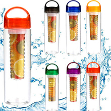 700ML 800ML Fruit Infuser Water Bottle Shaker Infuser Sport Hiking Cycling Gym Yoga Fitness Portable Climbing Camp Bottles