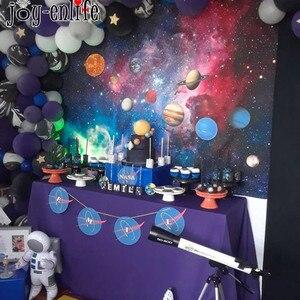 Космические вечерние украшения солнечная система вечерние товары для дня рождения космический корабль планеты гирлянда баннер воздушные ...