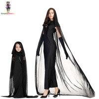 Adult Vengeful Spirit Costume For Women,Black Halloween Ghost Girl Costumes Carnival Children Dresses Size XXS XL