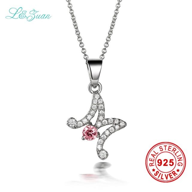 Lzuan 925 sterling silver 048ct pink gemstones pendants necklaces lzuan 925 sterling silver 048ct pink gemstones pendants necklaces jewelry m charm pendant for women mozeypictures Gallery