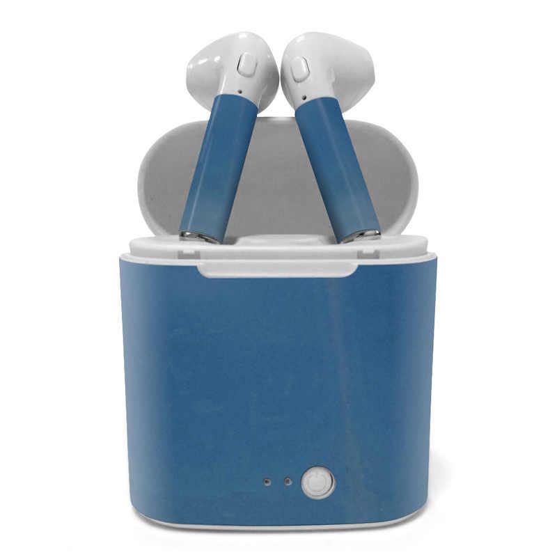 Tinh khiết màu tai nghe skin sticker bìa full body Cho Iphone series Cho i7 TWS Cặp Song Sinh Không Dây Earbuds
