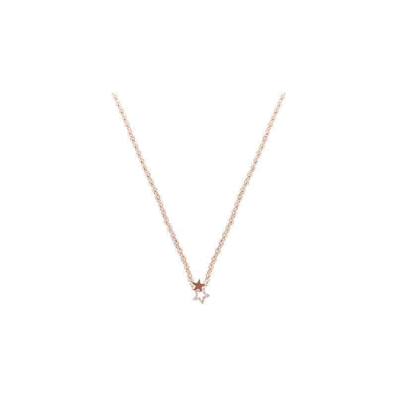 Pentagrama pingente de colar de corrente clavícula feminina simples selvagem personalidade colar de jóias no pescoço