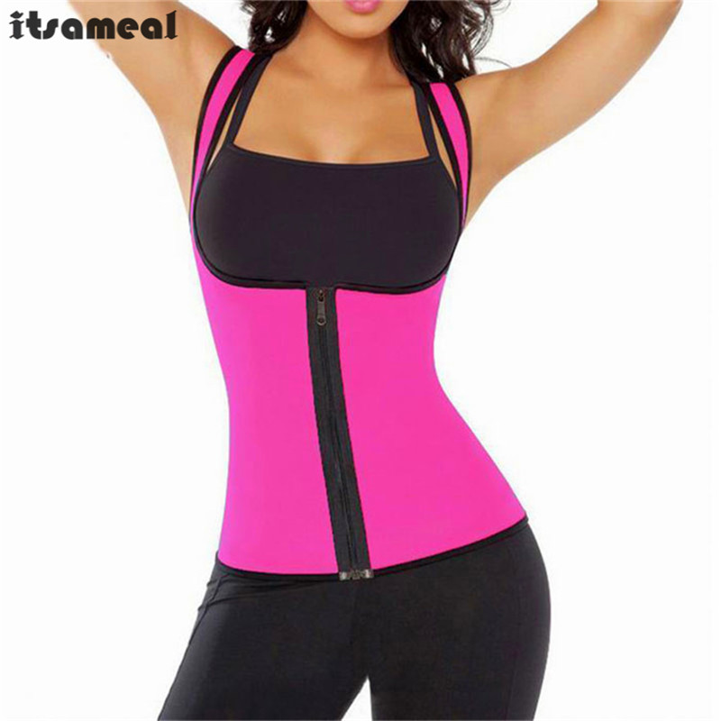 Neoprene Sauna Waist Trainer Vest Hot Shaper Summer Workout Shaperwear Slimming Adjustable Sweat Belt Fajas Body Shaper