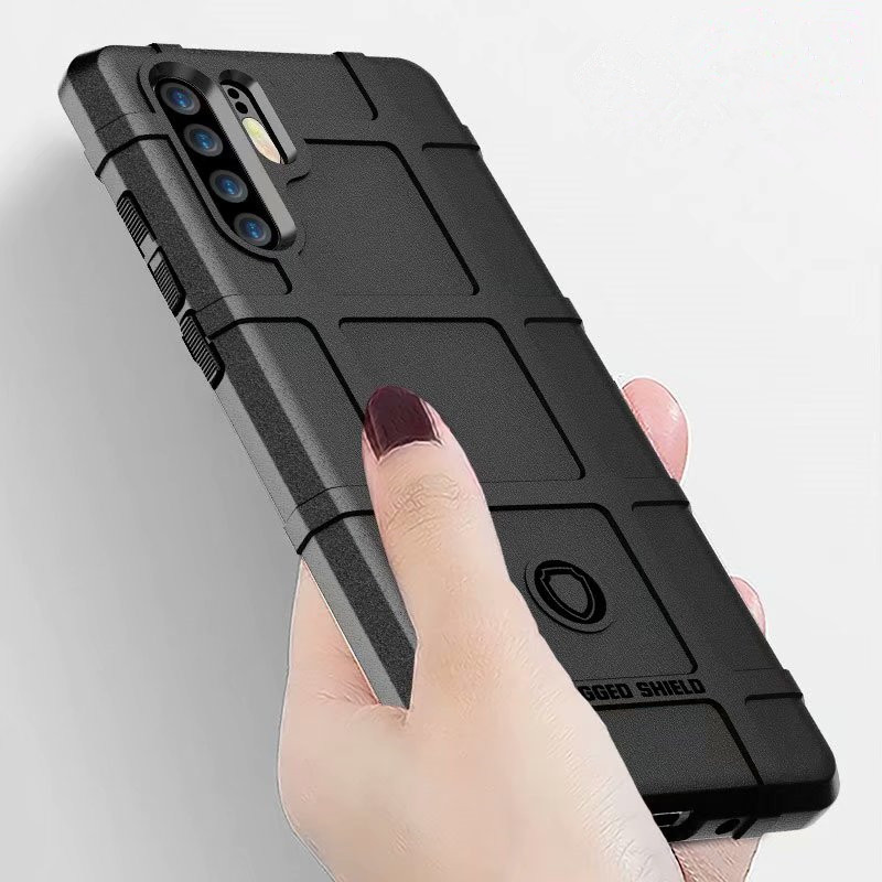 Rugged Shield 360 Shock Absorption Case for Huawei P30 Matte Ultra Thick Full body Protective Phone Case For Huawei P30 Pro Lite in Fitted Cases from Cellphones Telecommunications