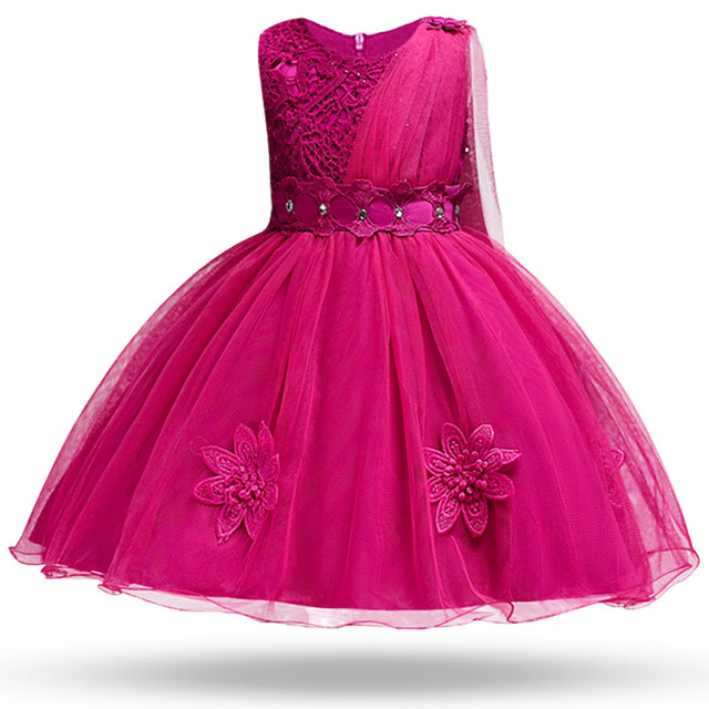 0a505c3fa4 Hot Sale Baby Girl Princess Ball Gown Dress Flower Lace Children Bridemaid  For Wedding Party Prom Dresseschildren Clothing Bos. Previous  Next