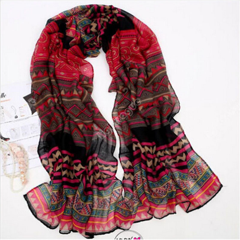2018 Hot Sale Lady Women's Fashion Long Big Soft Cotton Voile   Scarf   Shawl   Wrap   Red Hot Item Useful