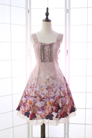 Princess Sweet Lolita Japanese Dress Alice Girl Rose Beautiful And Elegant Sleeveless Lolita Lace Dress QQ023