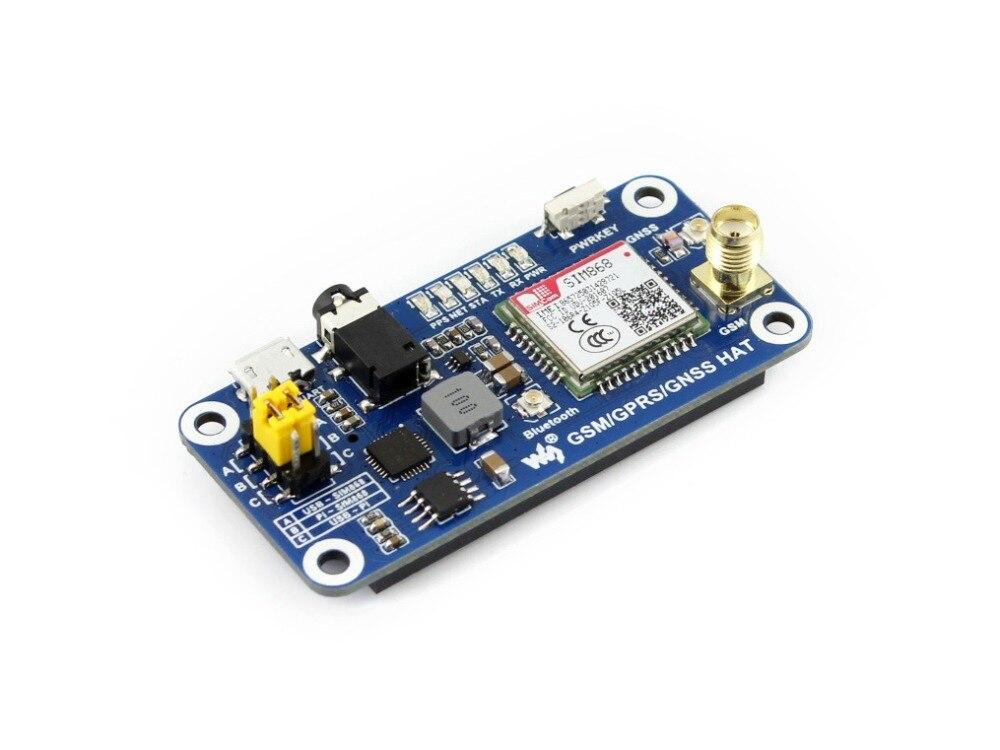 Faible puissance SIM868 GSM GPRS GNSS Bluetooth 3.0 chapeau pour framboise Pi 2B/3B/zéro/zéro W soutien SMS appel téléphonique CP2102 UART débogage - 3