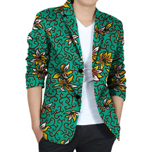 Handsome african men dashiki suit custom fashion african print blazer party mens suit of africa clothing for wedding