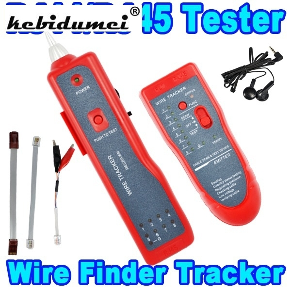 Telephone Network Phone RJ45 RJ11 Cable Wire Tracker Phone Generator Tester Diagnose Tone Networking Tools