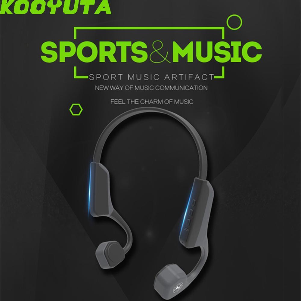 Écouteur Bluetooth à Conduction osseuse intelligente V8 casque sans fil casque stéréo sport en cours d'exécution écouteurs pour iPhone Huawei