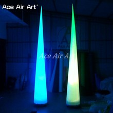 Hot Party Club Decorations Lighting Inflatable Decorative Cone For Wedding