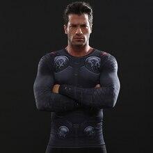 Avengers 3 THOR Compression Shirt 3D Printed T shirts Men 2018 New Comics Cosplay Costume Long