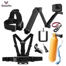купить SnowHu For Gopro Hero Action camera accessories Set Selfie stick  Adapter For Go pro 7 6 5 4 3 EKEN H9 xiaomi yi 4k GS66 дешево