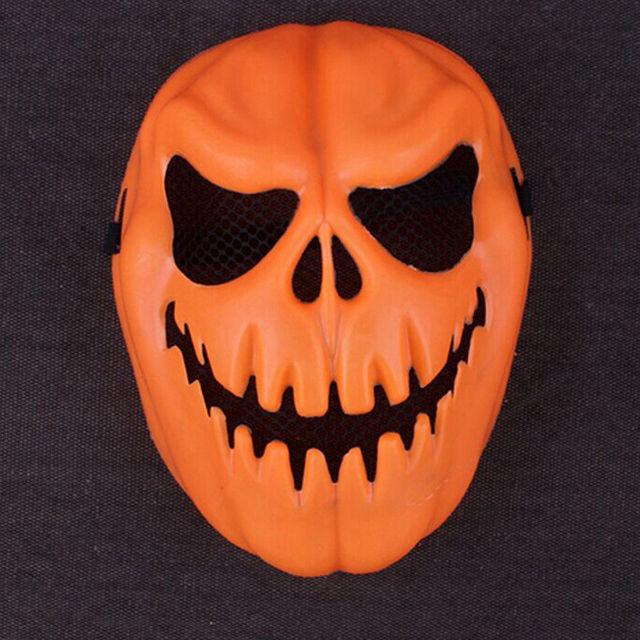 full face scary haloween pumpkin head mask cute felt halloween trick rh aliexpress com