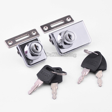 Hotsale 10sets Glass Display Cabinet Locks, Zinc Alloy,No Need Drilling for 5-8MM Keyed Alike & Different Available