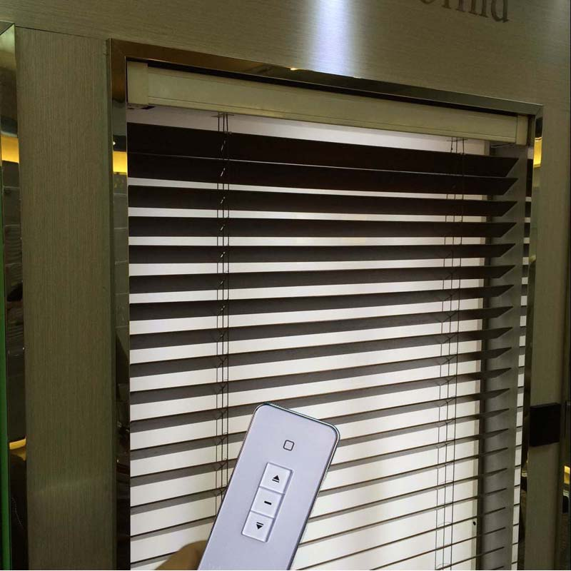 Vertical Blind Wooden Venetian Blind With Wireless Remote