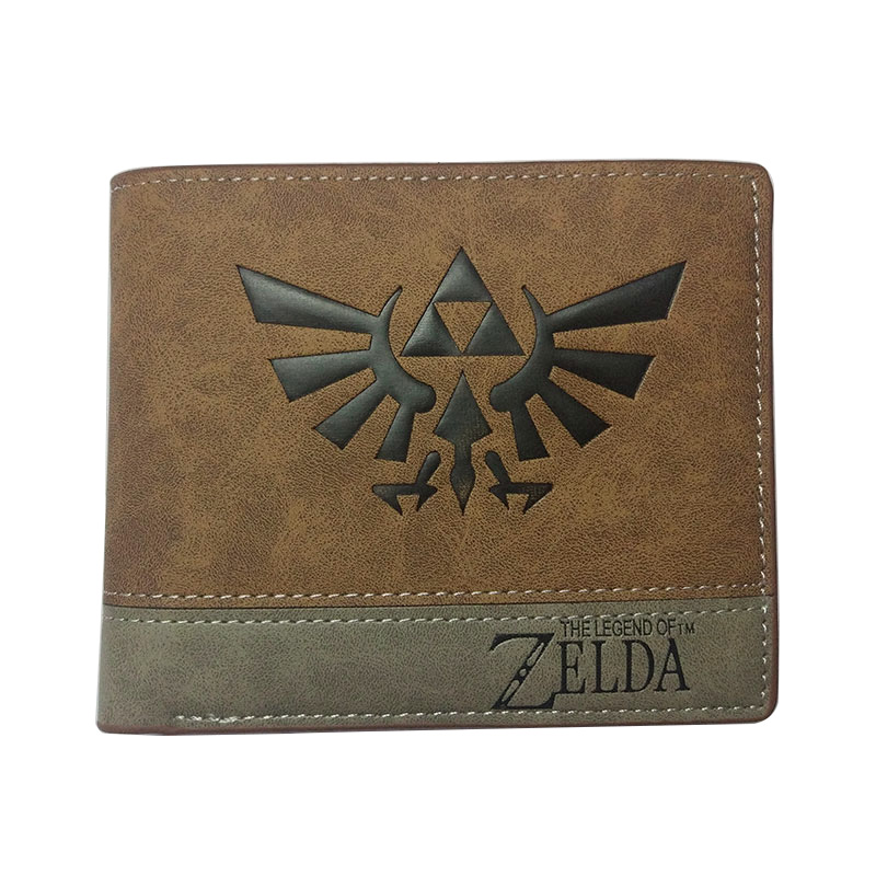 Anime Legend Of Zelda Wallets Students Card Holder Purse PU Leather Embossing LOGO Wallet Creative Gift Dollar Price Wallets