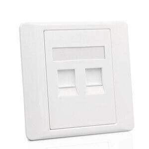 Image 3 - 2 Ports CAT6 RJ45 Internet Frontplatte LAN Anschluss Für Gigabit N Wand Panel Weiß Farbe