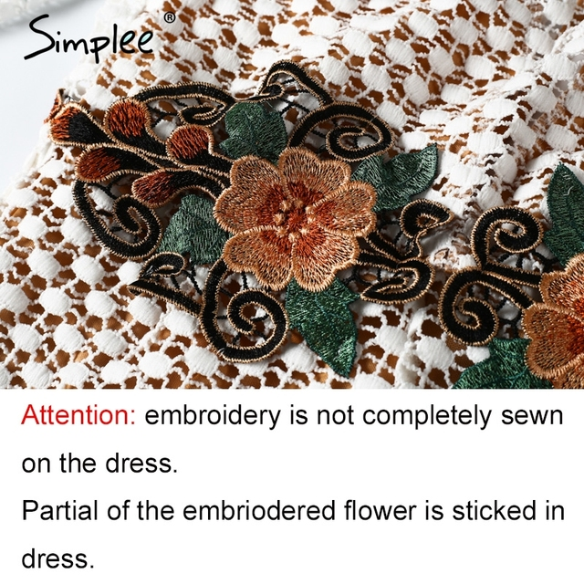 Simplee Lace floral embroidery jumpsuit romper women Streetwear flare sleeve backless playsuits Sexy summer beach party overalls