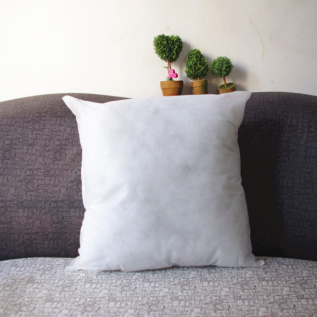1pcs 48 48cm Solid Pillow White Simple Cotton Soft Back Square No Pillowcase Free