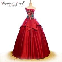 VARBOO_ELSA 2018 bridal gowns satin dress wedding Ball Gown