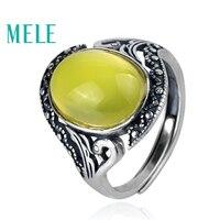 Натуральный пренитовые кольца с 925 серебро для женщин и человек, 10X14 мм овальной огранки grapestone Винтаж вырезка стиль ювелирные украшения