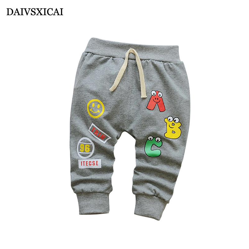 Daivsxicai Spring Pants Baby Girl Cute Cartoon Alphabet Baby Girl Cotton Pants Autumn Newborn Children Pants 7-24 Month