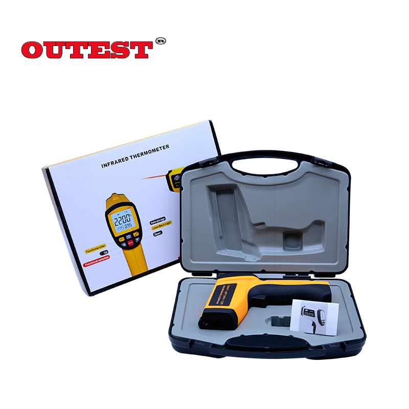 GM1150 Digital Infrared Laser Thermometer Non-contact -50~ 1150C(-58~2102F) IR Temperature Gun Instrument LCD gm1150 non contact 12 1 lcd display ir infrared digital temperature gun thermometer 50 1150c 58 2102f 0 1 1 00 adjustable