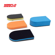Marflo Car Wash Clean Brush with Applicator Magic Clay Pad Wax Spong Pad 3 plus 1 made by Brilliatech