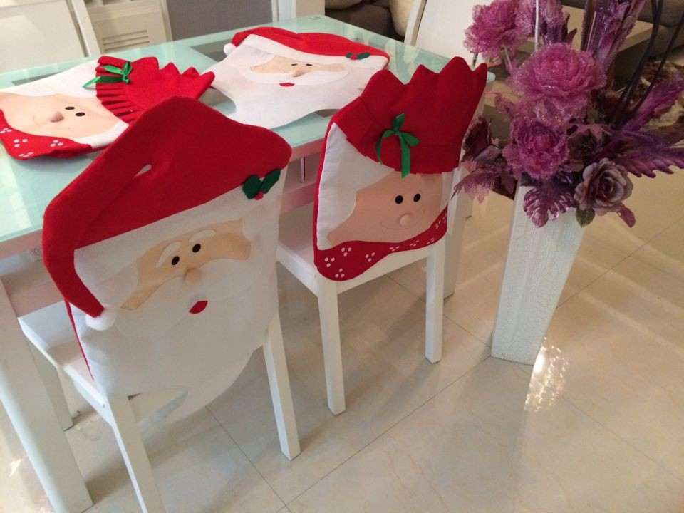 10pcs Christmas Decoration New Year Supplies Mr Mrs Santa Claus Kitchen Dinner Chairs Banquet Chair Cover For Armless In From Home