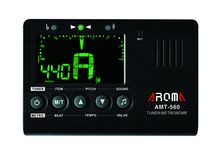 Factory Price Aroma AMT-560 Guitar Tuner Metronome Tone Generator (Big screen, foldable metal support shelf, loud voice)