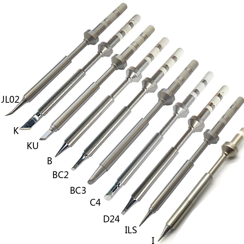 1PCS TS100 Electric Soldering Iron Tips Lead Replacement Various Models Tip TS-K KU I D24 BC2 C4 BC3 ILS JL02 B 10 Kinds Choose