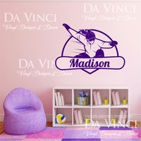Snowboard Snowboarding Decal Custom Girl Name Wall Personalized Vinyl Sticker