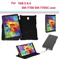 SM-T700 T705C Multi-angel stand smart cover case for Samsung Galaxy Tab S 8.4 tablet With magnet Auto Sleep