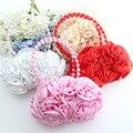 JC KIDS Baby Girls Cute Rose Handbag Silk Marriage Gift Bag Beautiful Rose Flowers Bag Flower Girls Bag Children Evening Bag