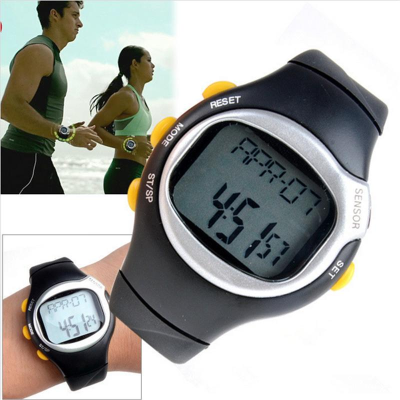 Black Wristwatches Sport Exercise Watch Square Men Women Watches Dial Calorie Counter Pulse Heart Rate Monitor pedometer heart rate monitor calories counter led digital sports watch fitness for men women outdoor military wristwatches