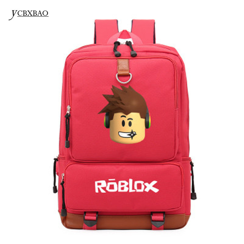 2018 Roblox Game Casual Backpack for Teenagers Kids Boys Children Student School Bags travel Shoulder Bag Unisex Laptop Bags anime game zelda link school backpack for boy girls bags cartoon student bookbag unisex color shoulder laptop travel bags