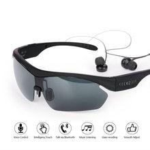c0dd74359427e Inteligente do bluetooth Óculos De Sol Ao Ar Livre Óculos Óculos de Sol Do Bluetooth  fone de Ouvido Sem Fio Esporte Fone De Ouvi.