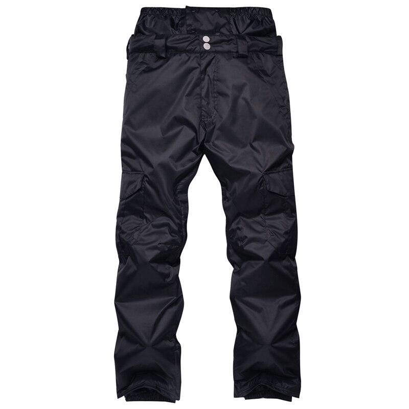 Nouveauté hiver pantalon de Ski pour hommes en Nylon et Spandex remplissage de tissu respectueux de l'environnement PP coton couleur snowboard pantalon taille S-XL - 6
