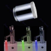 A96 Оптовая Glow Светодиодные Кран Водопроводной Воды Душ Автомат 7 Цветов Изменяя LD8001-A9 Хороший Инструмент