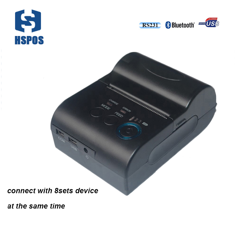 Handheld bluetooth thermal printer with battery USB serial interface printing machine support connect 8 sets device meanwhile zebra zt410 300dpi thermal barcode label printer industrial printing machine zm400 updated model usb serial ethernet port