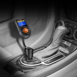 Image 5 - BT76 سيارة كيت يدوي سماعة لاسلكية تعمل بالبلوتوث FM الارسال شاشة الكريستال السائل MP3 لاعب سيارة كيت مع سريعة تهمة 3.0 2.4A شاحن سيارة