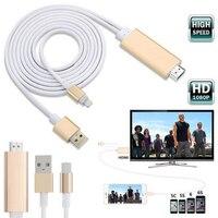 8 pinos 2 M para HDMI HDTV AV Cabo Adaptador Suporta 1080 p HD/3D 1080 p 60Hz Digital de Vídeo e Áudio para o iphone 6 6 S 5
