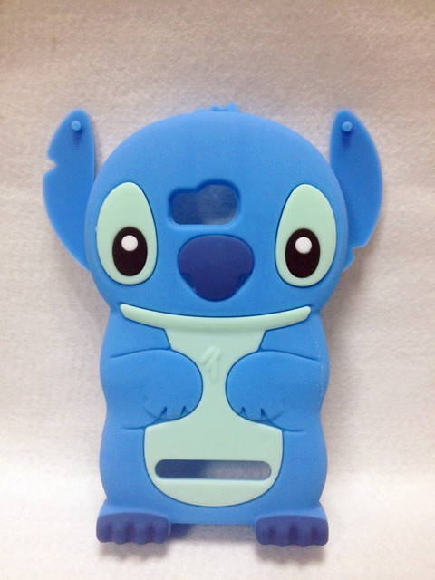 Lovely Stitch 3D Silicone Case For .Nokia Lumia 710 N710  High Quality Cell Phone Case Silicone