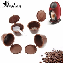 Arshen Dolce Gusto Coffee Capsule 4 Pcs/Set Plsatic Refillable 200 Times Reusable Compatible Nescafe