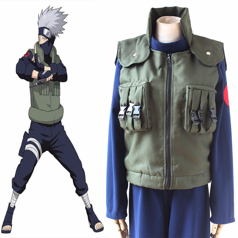 Hot Japanese Anime NARUTO Cosplay Costumes Hatake Kakashi Full Sets Cosplay Costumes Halloween Carnival Party Cosplay Costume