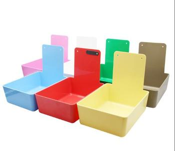 10 Pieces Dental Equipment Tooth Plastic Dental Neaten Work Case Pans with Clamping Piece Clip Holder to Fix Paper