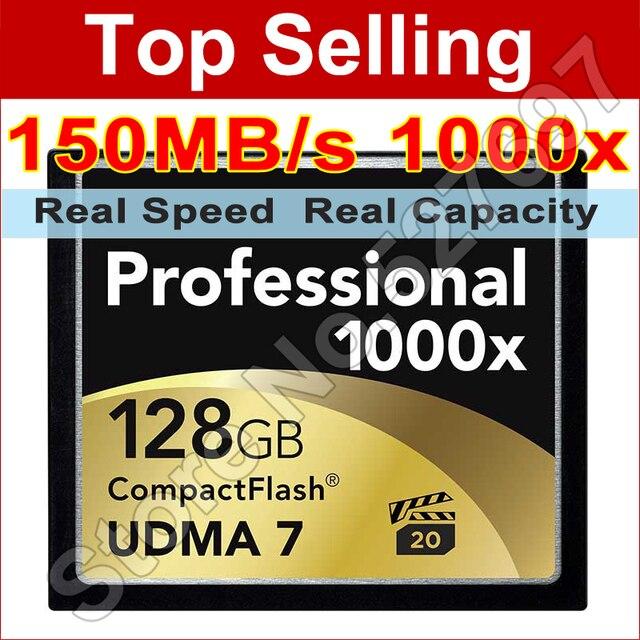 CF Карты Памяти 16 ГБ 32 ГБ 64 ГБ 128 ГБ UDMA 7 1000x Compact Flash Card Высокая Скорость DSLR камера Карты Розничной Упаковке